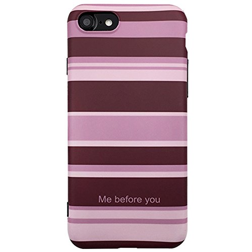iPhone 8 Plus/7 Plus Grid Case Checkered Plaid Pattern of Wine Red Matte Surface British Style Soft Crystal Silicone Case Cyber White Plaid for iPhone 8 Plus/7 Plus(Stripe, iPhone 8 Plus/7 Plus) (Wine Case Crystal)
