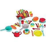 Battat Deluxe Kitchen Pretend Play Accessory Toy Set (71 pieces including Pots & Pans)