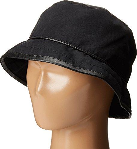 SCALA Women's Rain Bucket Hat with Piping Trim Black Hat One (Trim Bucket Hat)