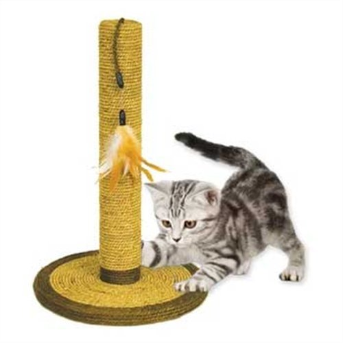 Ware Manufacturing Natural Seagrass Cat Scratch Post, 21-Inch, My Pet Supplies