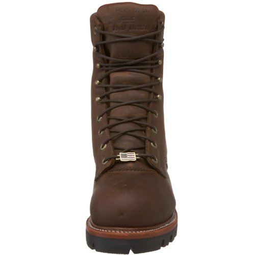 9 Waterproof Mens Logger Chippewa Toe Steel tex� Boot Chip Brown Insulated Wp EH a Aw54E4q6