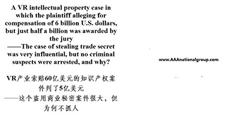 A VR intellectual property case in which the plaintiff alleging for compensation of 6 billion U.S. dollars: The case of stealing trade secret was influential, ... suspects were arrested (English Edition)