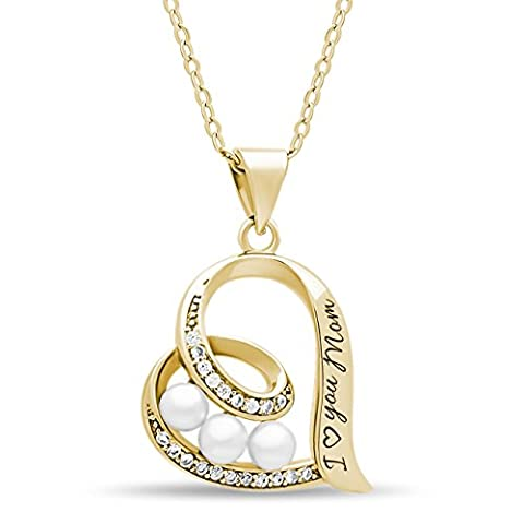 925 Sterling Silver Elegant Mother Necklace Silver Heart Necklace for Mom Engraved