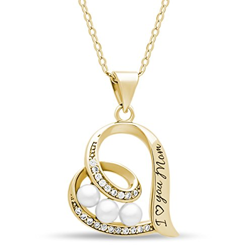 14k Mom Heart (Mother Day Gift 925 Sterling Silver Elegant Mother Necklace Silver Heart Necklace for Mom Engraved