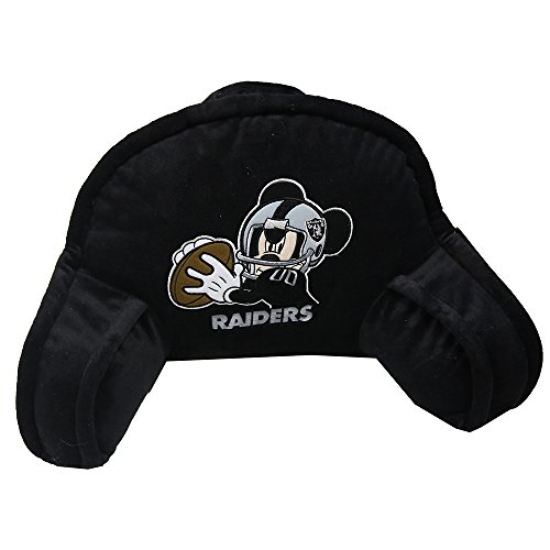 20x12 Bedrest Fan - The Northwest Company Officially Licensed NFL Oakland Raiders Mickey Mouse Plush 12