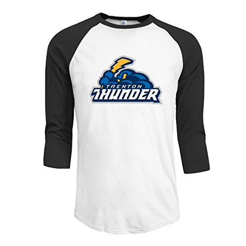 Price comparison product image Trenton Thunder baseball Teams Men's Fitted Raglan T shirt