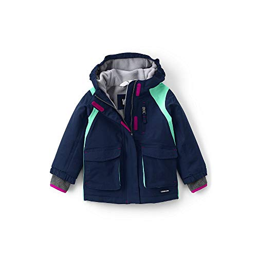 (Lands' End Toddler Girls Squall Waterproof Winter Parka, 2T, Midnight Navy)