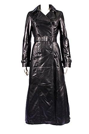 cappotto lungo in pelle donna