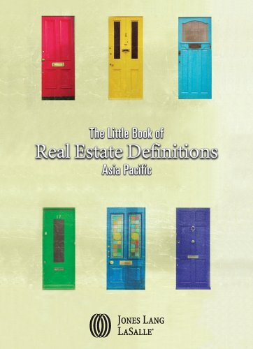 The Little Book Of Real Estate Definitions By Jones Lang Lasalle  2006 06 16