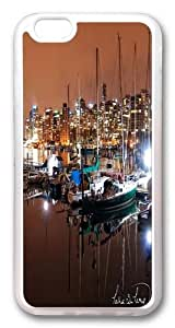 iPhone 6 plus Case and Cover -Vancouver Coal Harbour Nights TPU Silicone Rubber Case Cover for iPhone 6 plus and iphone 6 plus 5.5 inch Transparent