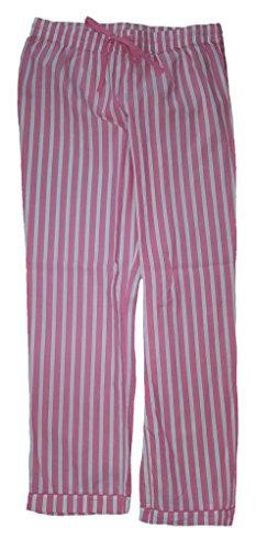 Secret Treasures Pink Rose Incarnate Stripe Woven Poplin Sleep Pants - ()