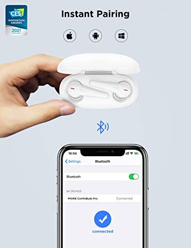 [2021CES] 1MORE ComfoBuds Pro True Wireless Earbuds, Active Noise Cancelling Earphone with 5 Adaptive Modes, Deep Bass, Bluetooth 5.0, 6 Mics for Calls, Fast Charge, Auto Pause, 28H Playtime