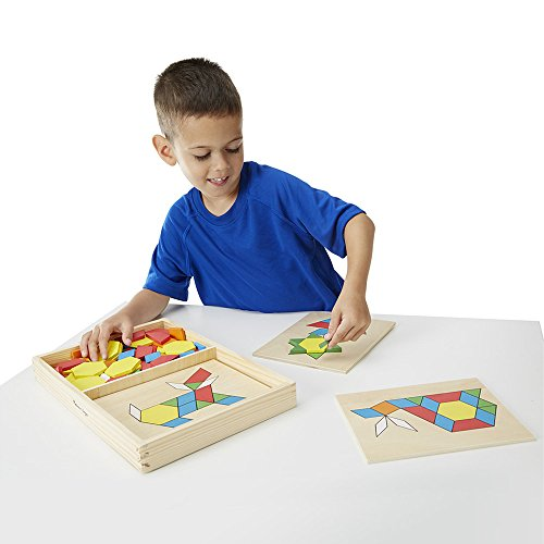 41iWSUhkZDL - Melissa & Doug Pattern Blocks and Boards - Classic Toy With 120 Solid Wood Shapes and 5 Double-Sided Panels