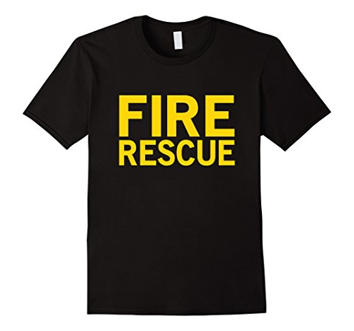 Mens Halloween Costume Fire Fighter Tshirt Large (Firefighter Halloween Costume Men)