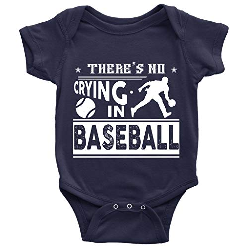 There's No Crying In Baseball Baby Bodysuit, Cute