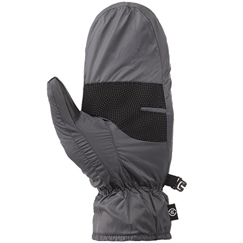 Isotoner Women's Quilted Nylon Mitten with Warm Touch Lining, Charcoal, Medium