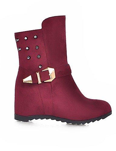 Brown Tacón Mujer Eu42 Cuñas us10 De 5 Cn43 Vestido Brown Cuña Eu Uk8 us9 Marrón A 5 La Botas Rojo Zapatos 5 Redonda 10 8 Cn42 5 Punta Xzz Moda Negro Casual Uk7 Vellón Eu41 Azul xqwtXpBE