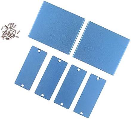 Shiwaki Caja De Aluminio 2set Dispositivo De Red Caja De Escritorio Caja Diy Kits: Amazon.es: Bricolaje y herramientas