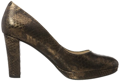 Kendra Leather Women''s Pumps Brown Sienna Closed Snake Toe Bronze Clarks RUxvq5zwx