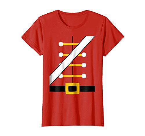 (Womens Nutcracker Costume Shirt Toy Soldier Dress Up Uniform Small)