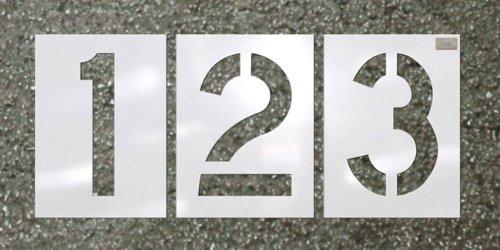 C.H. Hanson - Number Kit 12 Pc. - Stencil Font Size 24''x9'' HWY font by Carolina Herrera