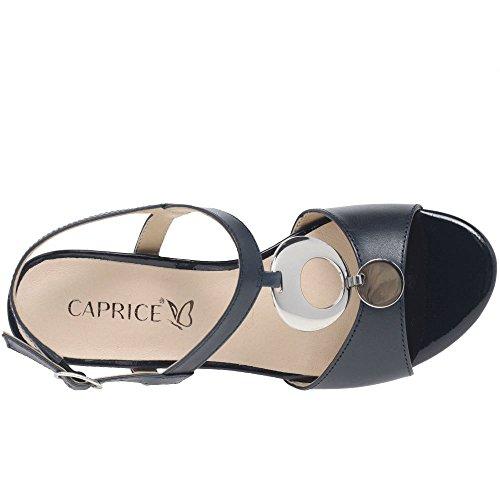 4 Tacón Strappy 37 5 Galaxy De Ocean Eu Caprice Mujer Nappa Uk Sandalias Bloque Leather 5 npY0Yq1A