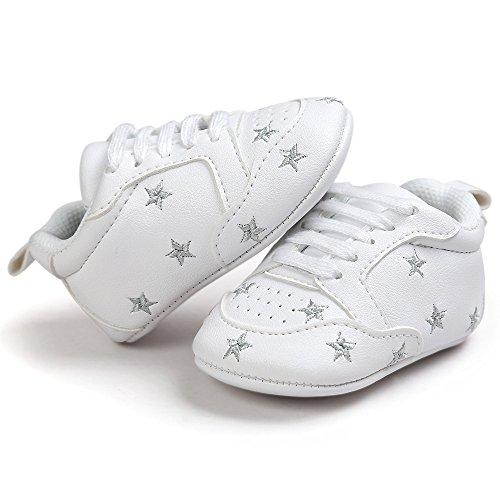 Nacido Plateado Artificial Niño Suela Primeros Zapatillas Niñas Con Bordado Bebé Para Fossen Bebe Pasos Zapatos Blanda Antideslizante Recién Pentagram Cuero 1vx5qRW