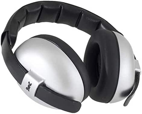 Baby Banz Infant Hearing Protection Sound Blocking Earmuffs (Silver)