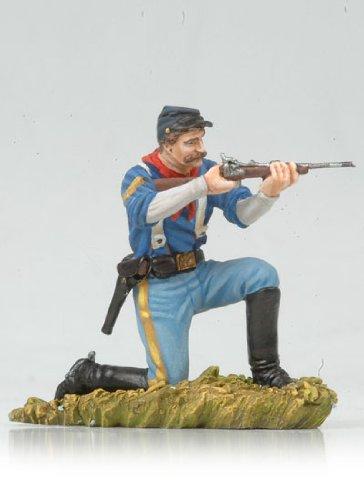 Kneeling US Cavalryman Shooting Carbine