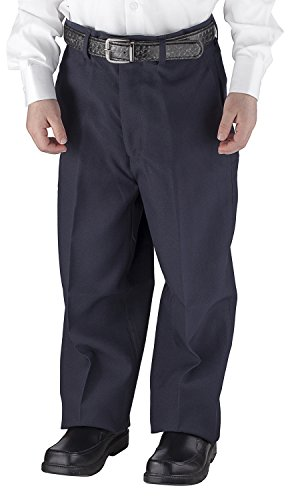 Alberto Cardinali Big Boys Dress Pants Belted Flat Front (8, (Boys Navy Dress Pants)