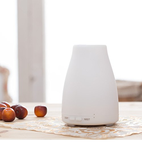 ZJKC 100 Milliliter Essential Oil Diffuser 7 Colors Changing Aromatherapy Ultrasonic Air Humidifier with LED Lights, Cool Mist Diffusers for Home Photo #7