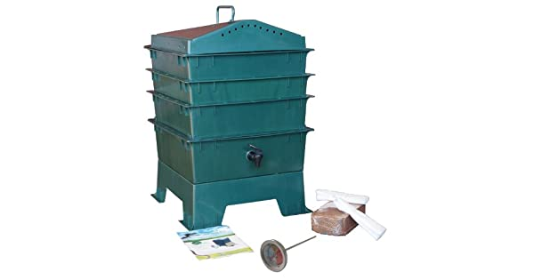 Amazon.com: 3-tray Gusano Compost Bin con Free thermometer ...