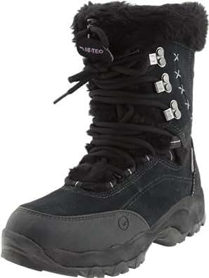 Hi-Tec Women's St. Moritz 200 WP II Winter Boot, Black/Clover, 5 M US