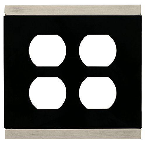Franklin Brass 135758 Basic Stripe Double Duplex Outlet Wall Plate / Switch Plate / Cover