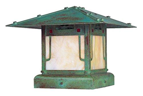 Arroyo Craftsman PDC-12GRC-AB Pagoda Column Mount, 12