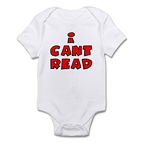 CafePress - I Can't Read - Cute Infant Bodysuit Baby (Innocent Onesie)