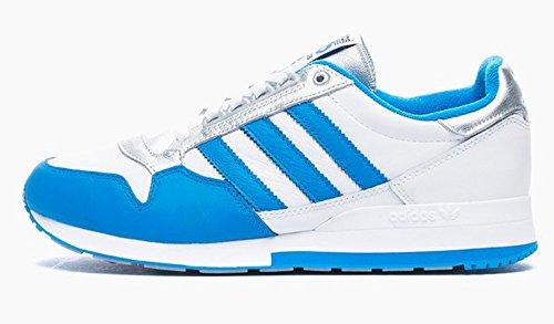 Adidas Originals ZX 500 OG Nigo blanco-Blue-PLATA de zapatos de correr o ir al gimnasio/Retro Casual M21520 tamaño UK 6