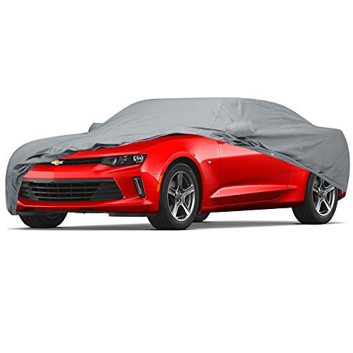 - 4 Layer Custom Fit Car Cover for Chevrolet Chevy Camaro Model Year 2010-2018