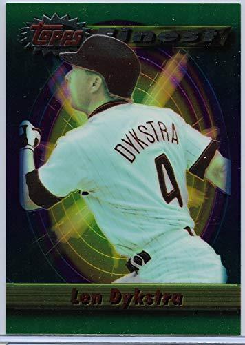 1994 Topps Finest Baseball Lenny Dykstra Oversize Box Topper Card # 237