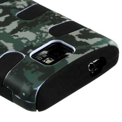 MyBat SAMI777HPCSKLZ766NP Fishbone Case for Samsung Galaxy S II i777 - Lizzo - 1 Pack - Retail Packaging - Digital Camo (Lizzo Digital Camo)