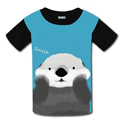 Prairie Girl Costume Ideas (Cute Smile Marmot Bobac T-shirts Tee Shirt for Kids Tops Costume Round Black S)