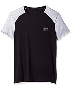 Men's Raglan Crew Neck Logo T-Shirt!