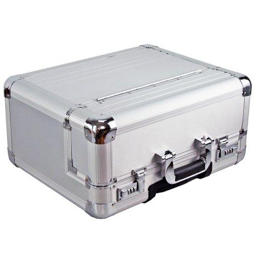 Dermata Aluminium Pilotenkoffer Trolley 46,5 cm Laptopfach