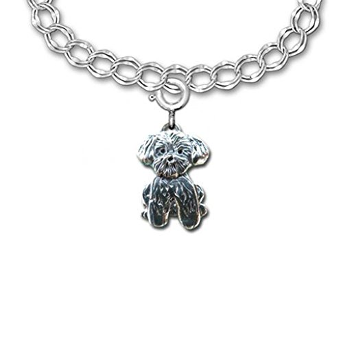 Sterling Silver Lhasa Apso Charm by The Magic ()