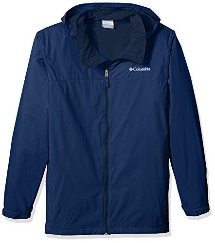 Columbia Men's Big and Tall Glennaker Lake Lined Rain Jacket, Carbon, 4X
