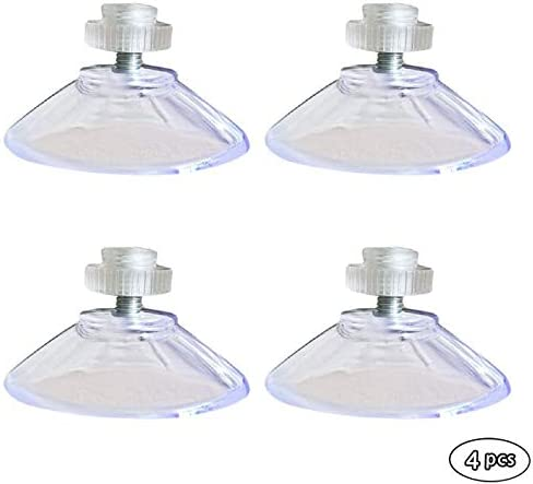 4Pcs With M4 Thread 40mm Suction Cups With Knurled Nut Clear for kitchen