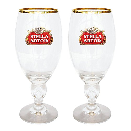 STELLA40CLX2 Stella Artois 40 CL Beer Glasses, Clear (Pack of 2)