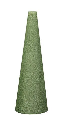(FloraCraft Styrofoam Cone 5.6 Inch x 23.8 Inch Green)