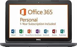 "2018 Dell Inspiron 11 11.6"" HD LED Laptop Computer, AMD A6-9220e up to 2.4GHz, 8GB DDR4, 32GB eMMC + 128GB SD, WiFi, Bluetooth, USB 3.0, HDMI, MaxxAudio, Office 365 1-year, McAfee LiveSafe, Windows 10"