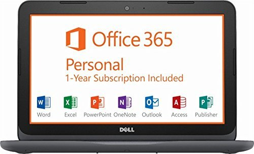 """2018 Dell Inspiron 11 11.6"""" HD LED Laptop Computer, AMD A6-9220e up to 2.4GHz, 8GB DDR4, 32GB eMMC + 128GB SD, WiFi, Bluetooth, USB 3.0, HDMI, MaxxAudio, Office 365 1-year, McAfee LiveSafe, Windows 10 -  Dell Computers, 43308-4065"""